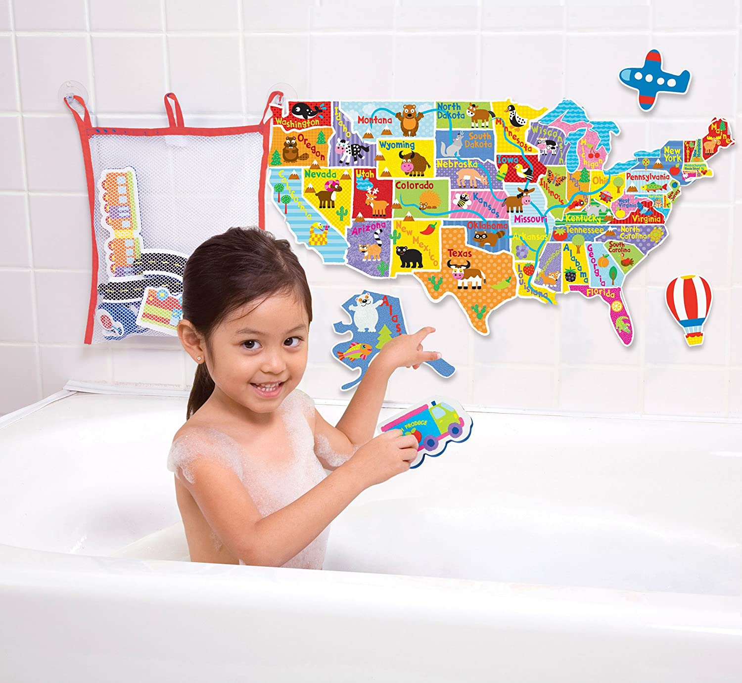 Amazon ALEX Toys Rub a Dub USA Map in the Tub Toys & Games