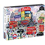 Galison Michael Storrings 1000 Piece London Jigsaw Puzzle for Adults – Illustrated Art Jigsaw Puzzle with Scene from The Stre