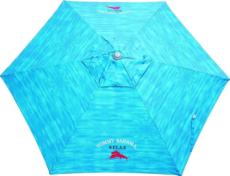 Tommy Bahama 7-Foot Outdoor UPF50 Sun Protection Wind Vent Market Beach Umbrella