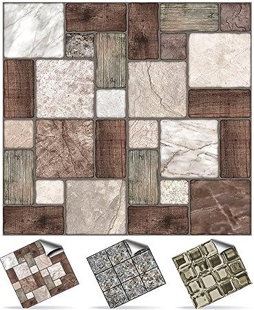 Fliesenfolie Küche 24 stück fliesenaufkleber für küche und bad tile style decals