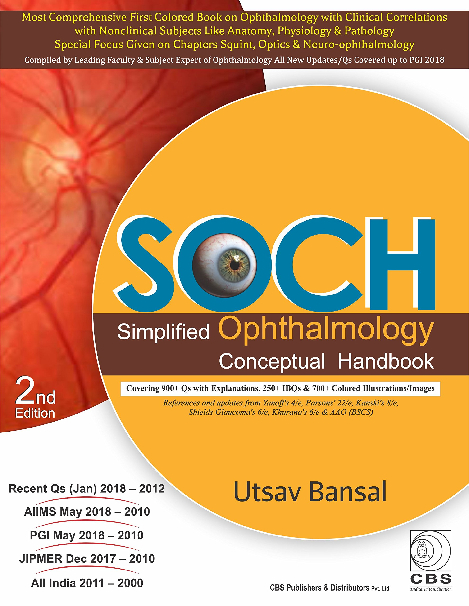 Buy Soch Simplified Ophthalmology Conceptual Handbook Book Online At