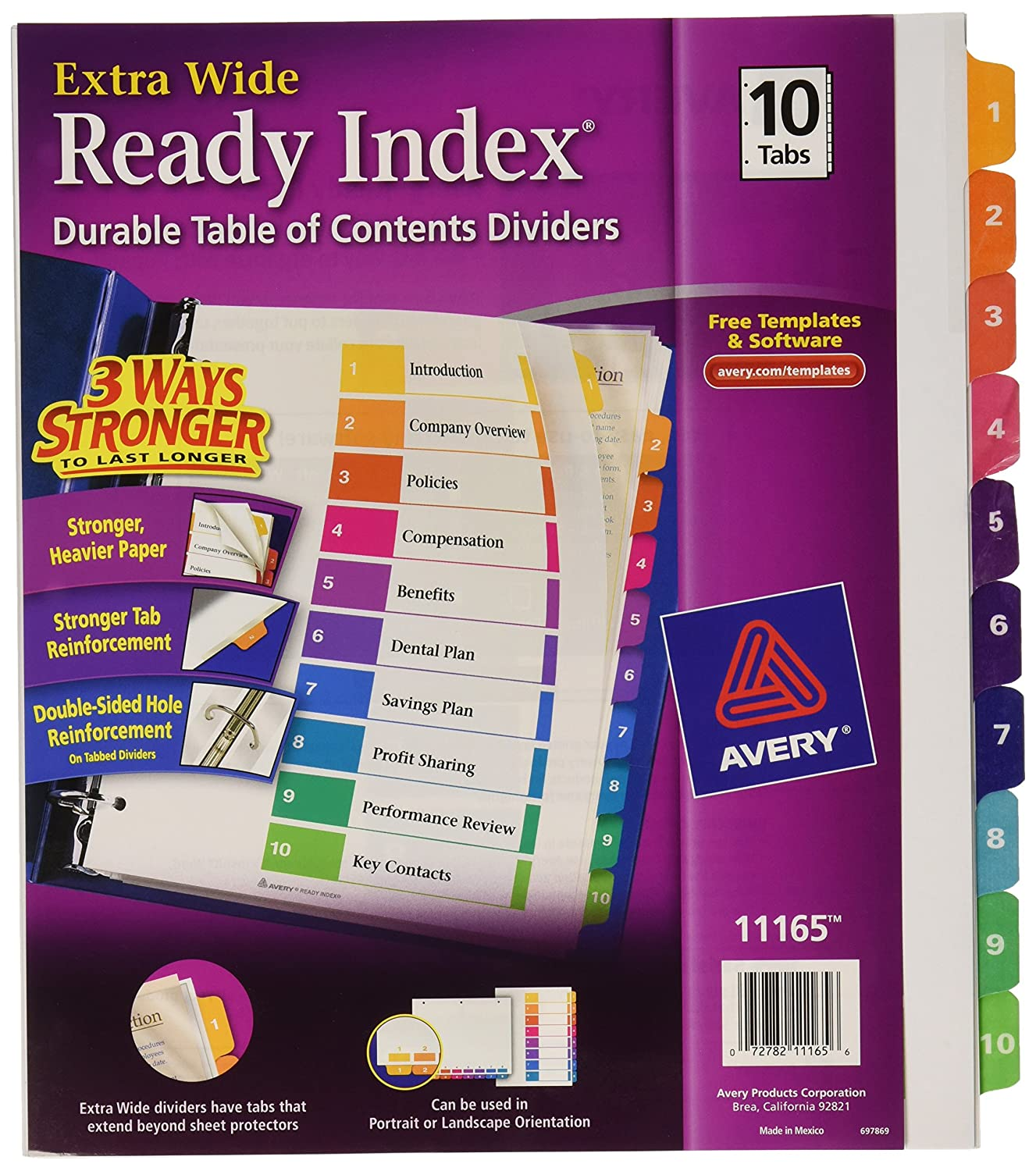 Avery Extrawide Ready Index Dividers