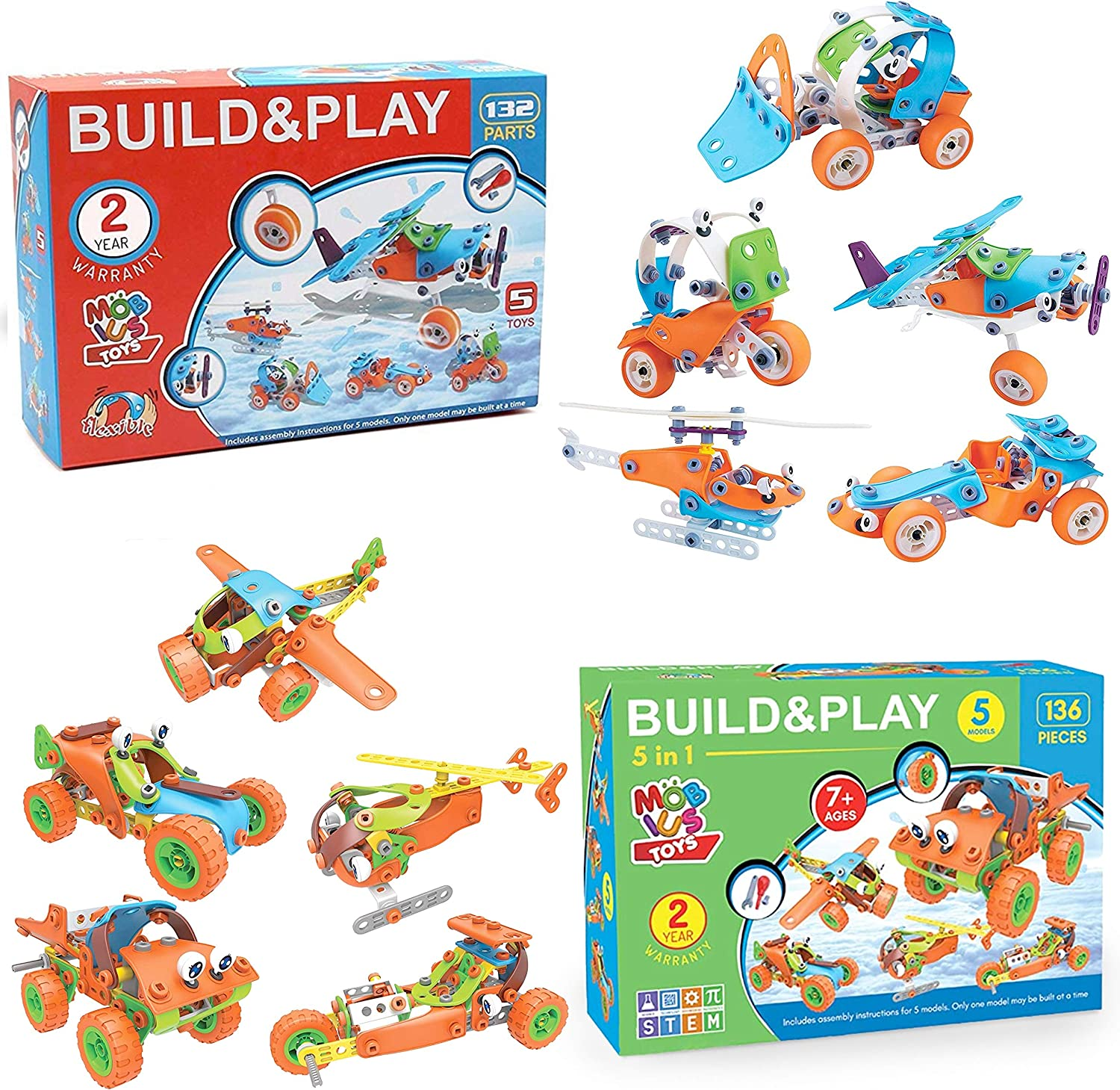 STEM Toys for Kids – Best 5-in-1 Building Projects Set for 6 7 8 9+ Year Old Boys & Girls That Love to Build – Creative Construction Stem Learning Engineering Gift for Birthday Christmas and All Times