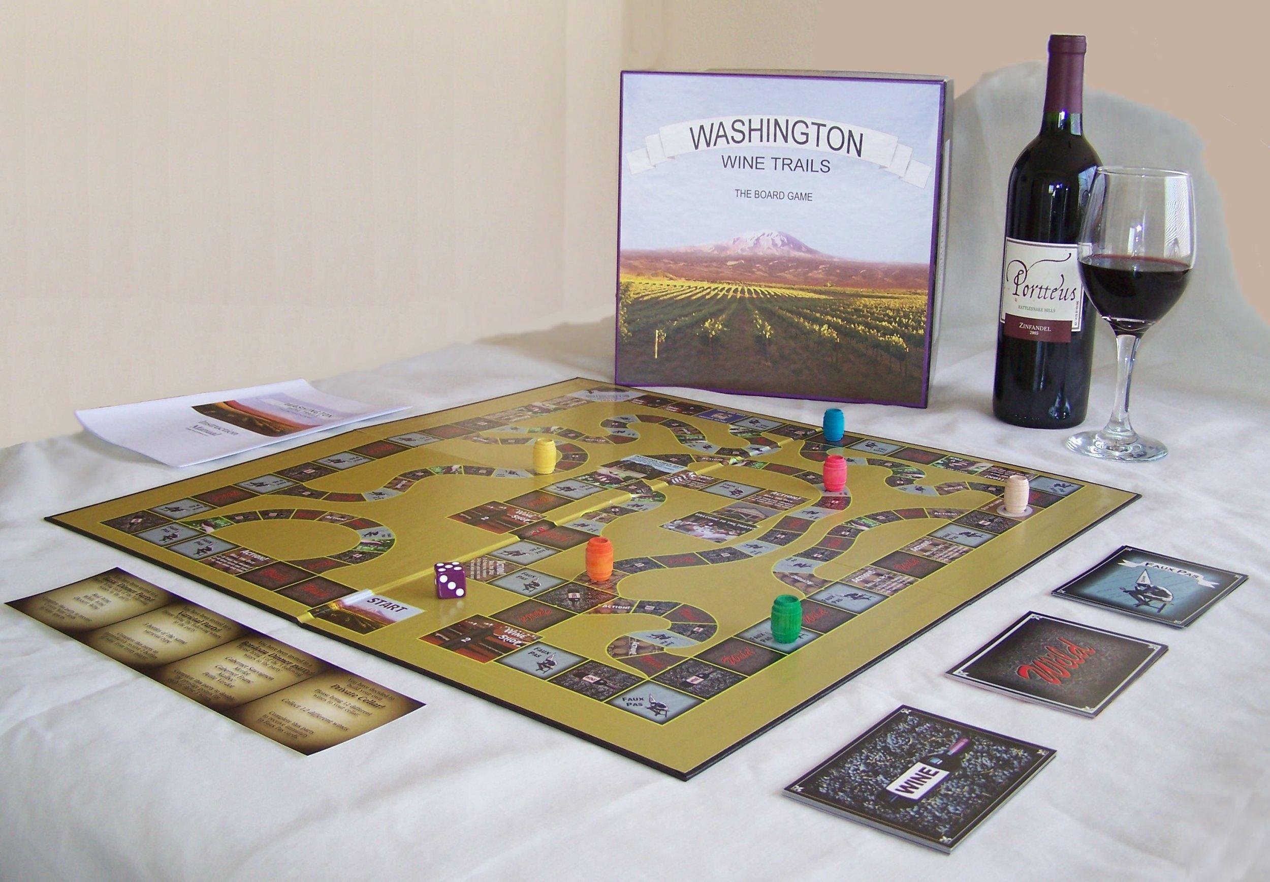 1 X Washington Wine Trails Board Game