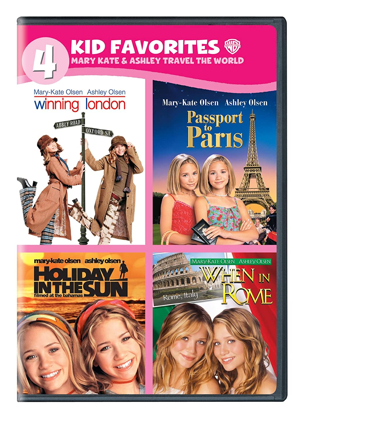 4 Kid Favorites: Mary-Kate & Ashley Travel the World Various Warner Bros. Home Video Family Movie