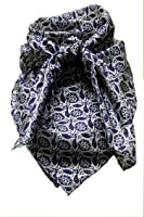 Wild Rag Calico Navy Leaf