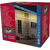 Konstsmide 2379-500 LED Biergartenlichterkette/für Außen (IP44) / 24V Außentrafo / 20 bunte Birnen / 160 bunte Dioden/schwarzes Kabel