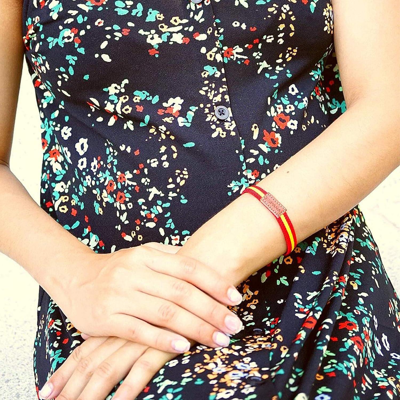 HAND-PRO Pulsera españa Mujer Tela Pulsera españa Cuero Pulsera Elastica españa Pulsera Bandera españa Pulsera Mujer Tela: Amazon.es: Joyería