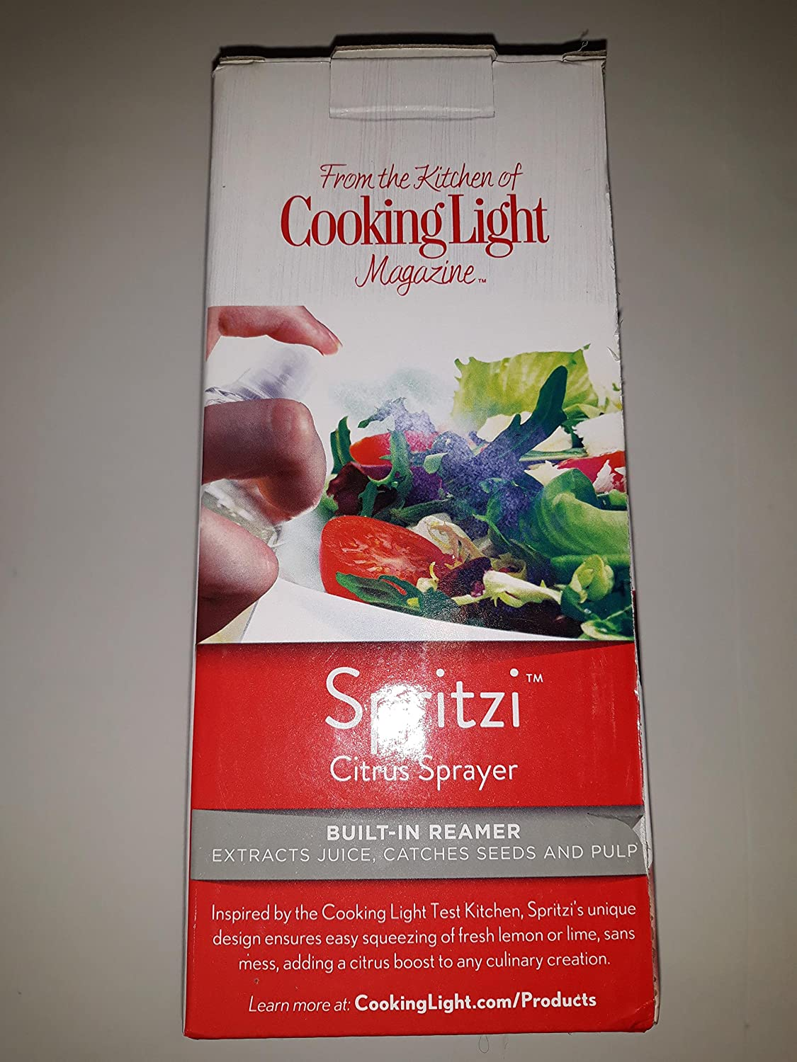 Amazon.com: Cooking Light Spritzi Citrus Sprayer With Built In Reamer/ Red:  Kitchen U0026 Dining