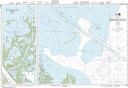 mississippi river gulf outlet map Amazon Com Noaa Chart 11353 Baptiste Collette Bayou To mississippi river gulf outlet map