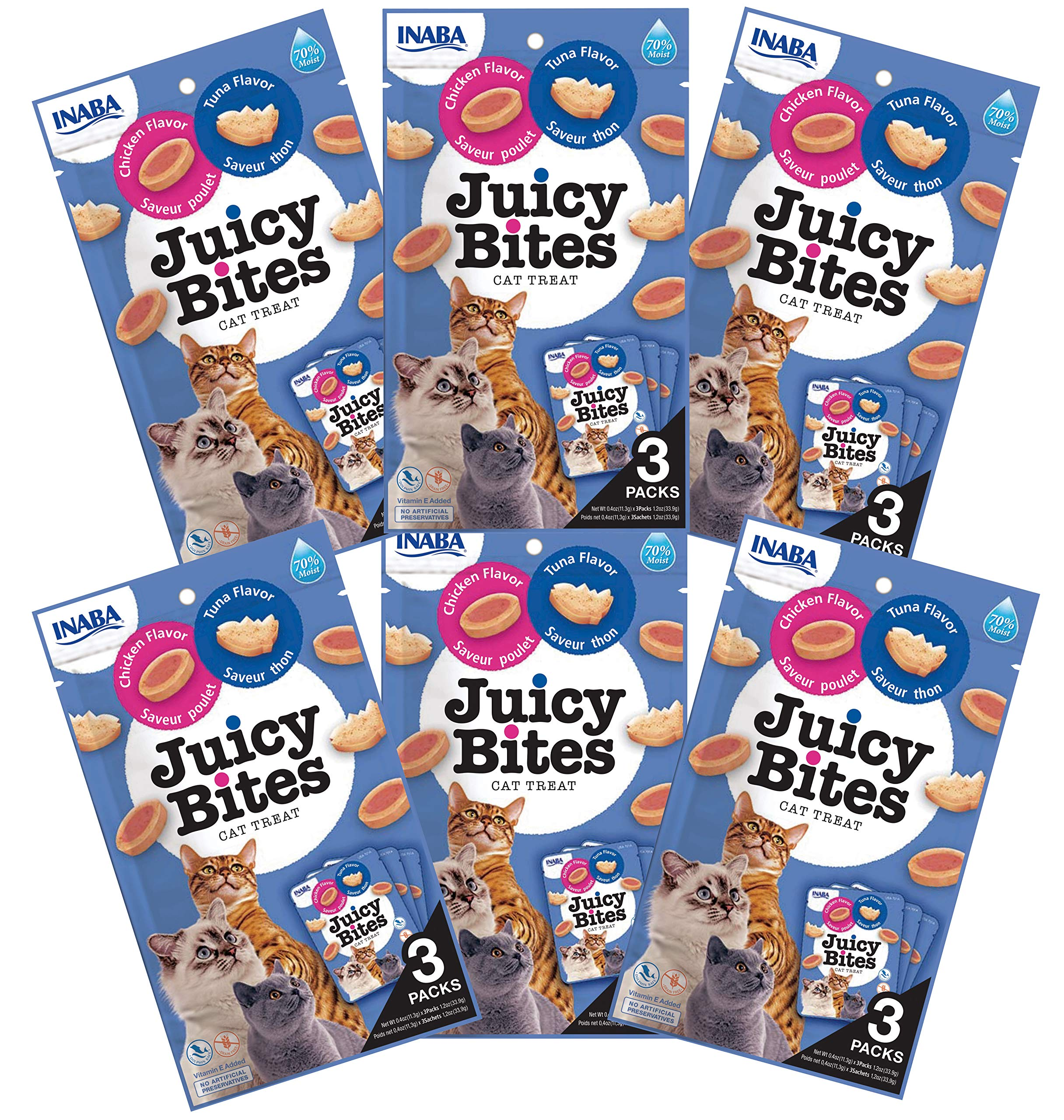 INABA Juicy Bites Tuna and Chicken Flavor Cat Treats 18pk by INABA