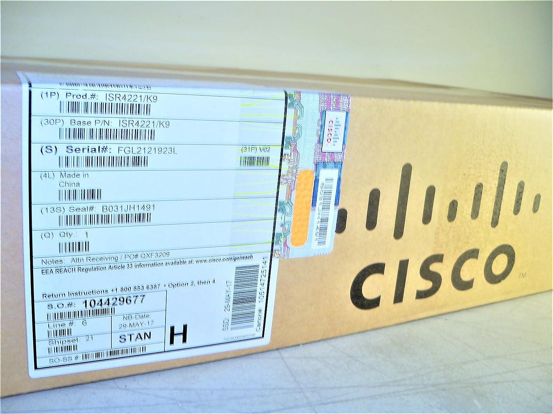Amazon com: Cisco ISR 4000 Series Router - ISR4221-SEC/K9