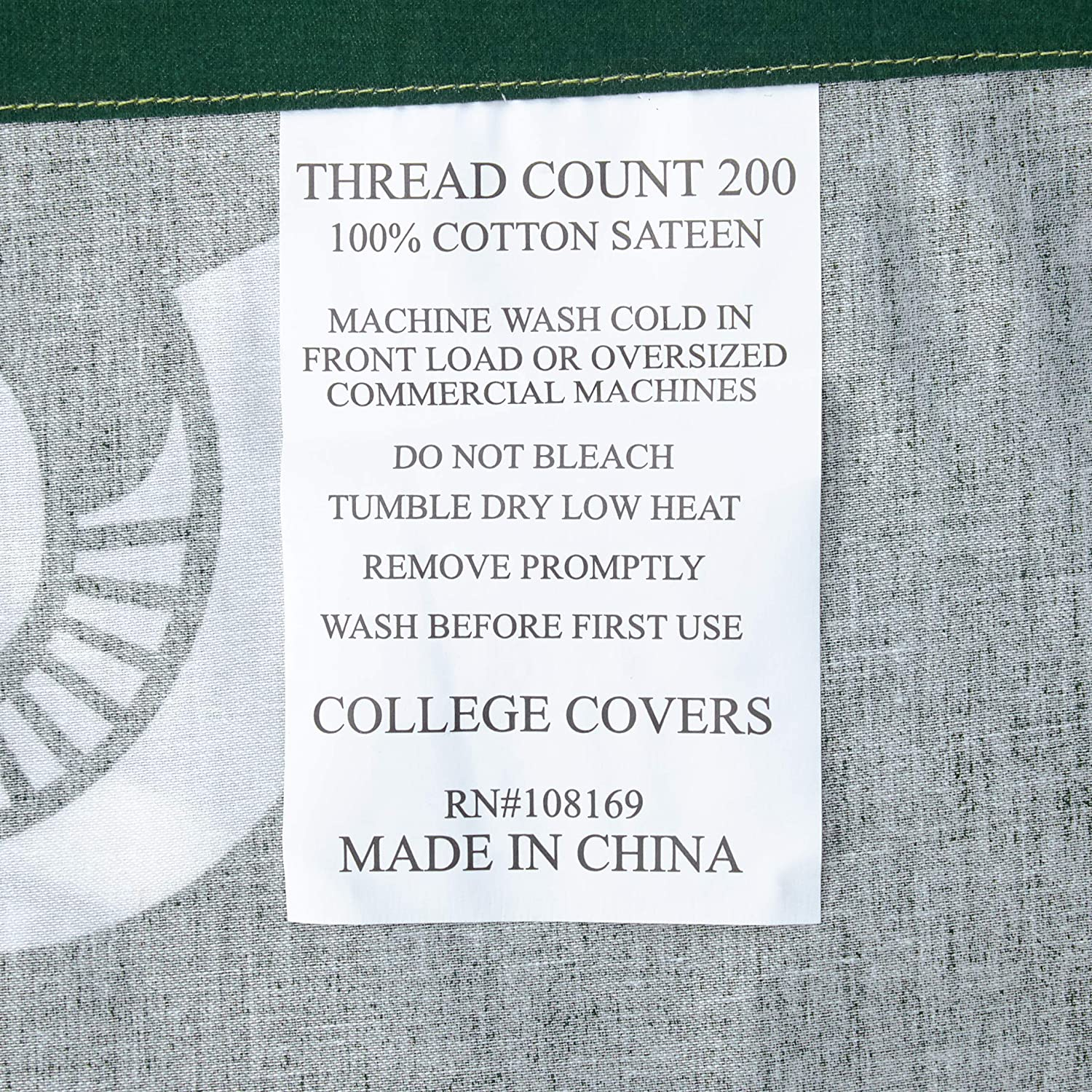 70 x 72 College Covers North Carolina Tar Heels Shower Curtain Cover