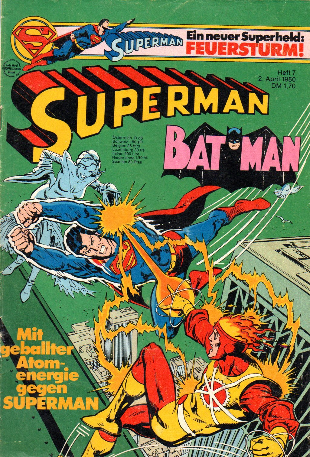 Superman Batman Comic Großband # 7 - Ehapa Verlag 1980 (Superman) Comic – 1980 B005WAKAI0 Belletristik - Comic Cartoon