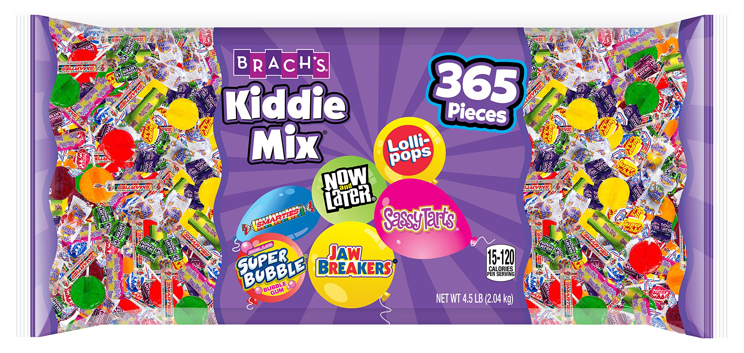 Brach's Assorted Candy Mix,  Kids Variety Candy Party Mix, 365 Count