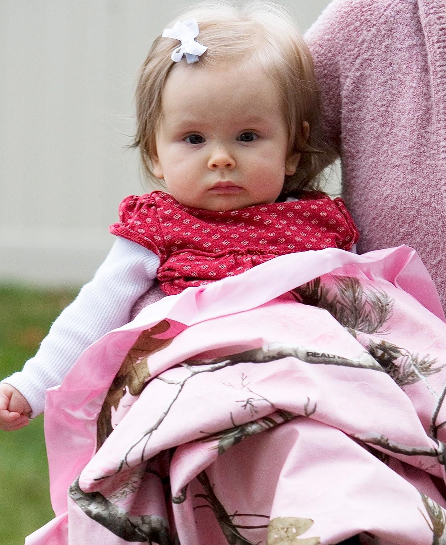 938af6dc13004 Amazon.com: Carstens Realtree AP Baby Blanket, Pink, 34