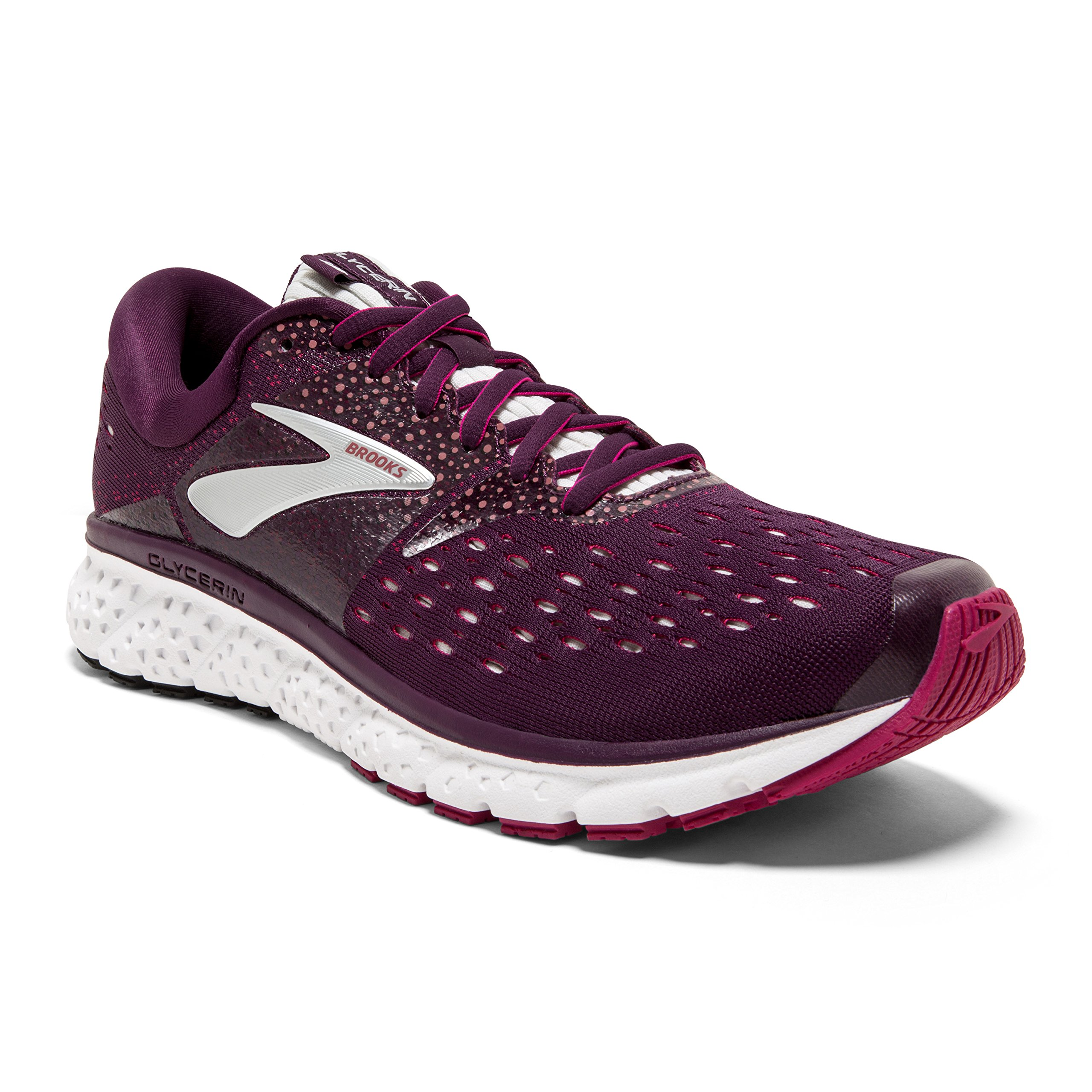 Brooks Womens Glycerin 16 - Purple/Pink/Grey - B - 6.5 by Brooks