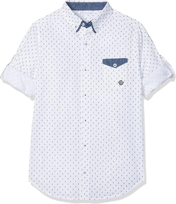 Tutto Piccolo 4049S18 Camisa, Blanco (White - Navy Blue W00B07), 6 años (Tamaño del Fabricante:6.A) para Niños: Amazon.es: Ropa y accesorios
