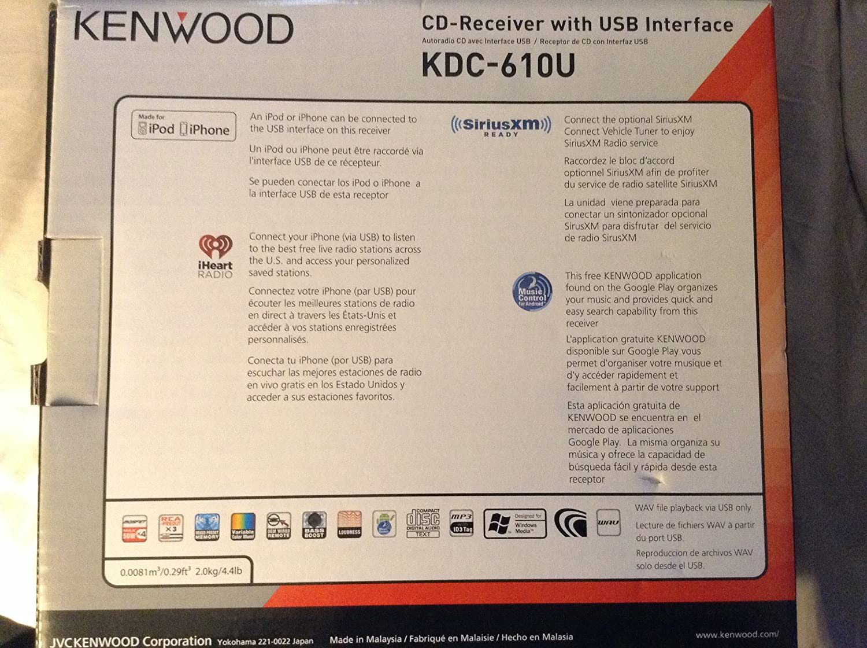 amazon com kenwood kdc 610u cd player with dual usb multi color kDa Kenwood Car Stereo amazon com kenwood kdc 610u cd player with dual usb multi color display car electronics