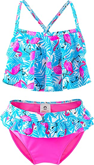 Amazon.com: Bikini de dos piezas para niña, diseño de ...