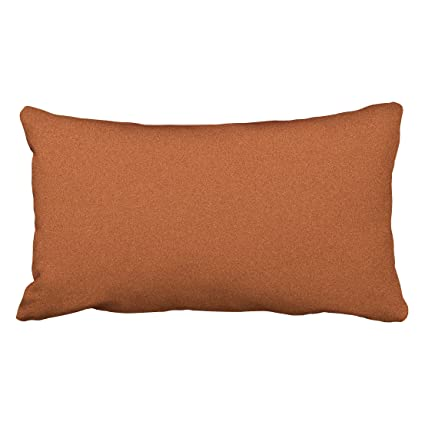 Amazon Com Tarolo Decorative Burnt Orange Pillow Cover Size 20x36
