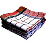 Space Fly, Highly Absorbent Big Size 20X20inch 100% Cotton Multipurpose Kitchen, Chapatis Napkin and Cleaning, Cloth, Duster (5 Pieces_Multi Color Striped)