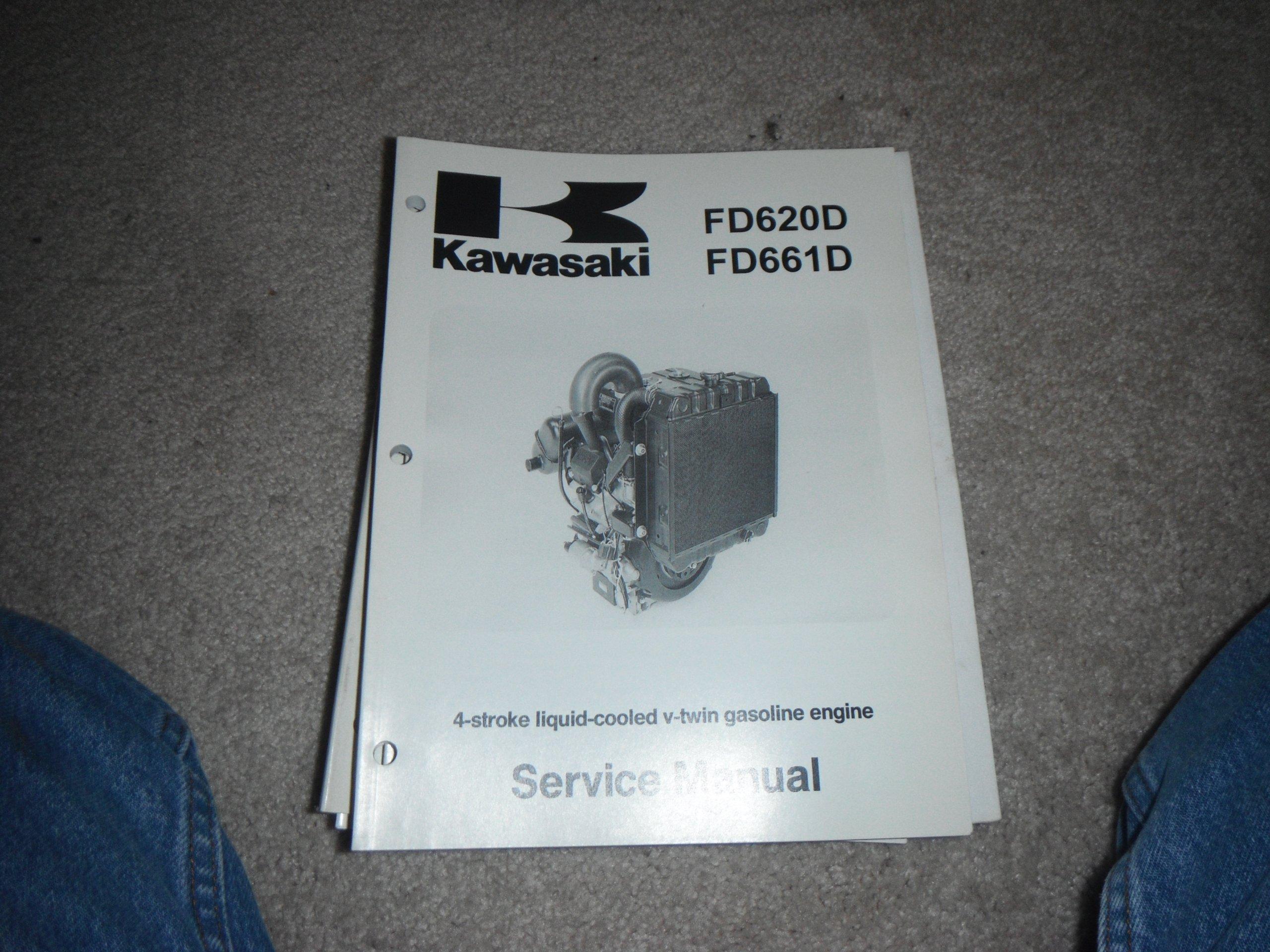 kawasaki FD620D, FD661D- 4 Stroke Liquid Cooled V-twin Gasoline Engine  Service Manual: kawasaki heavy industries: Amazon.com: Books