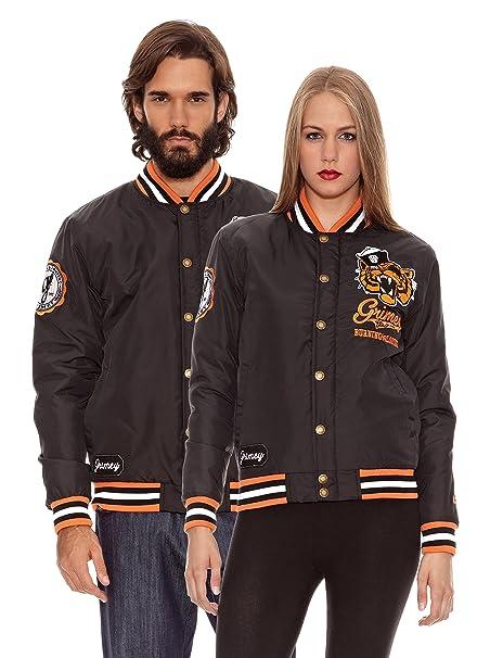 Grimey Wear Chaqueta Nylon Fuego y Saqueo Negro XL: Amazon ...