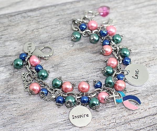 0a9b43b77 Amazon.com: Thyroid Cancer Bracelet in Stainless Steel: Handmade
