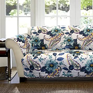 Amazoncom Lush Decor Floral Paisley SlipcoverFurniture