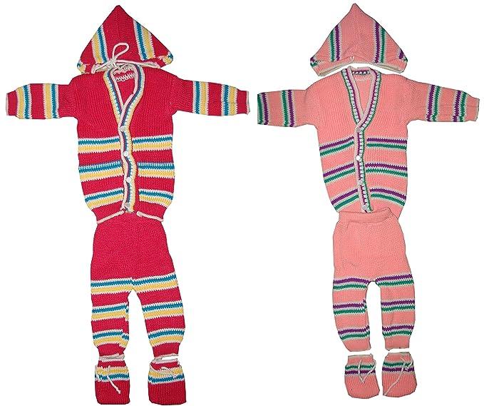 231aae12d7e KIFAYATI BAZAR Infant Woolen Sweater 4 Pieces Suit (Multicolour