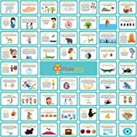 Lunch Box Notes for Kids – Pack of 60 Educational Lunch Box Notes - Lunch Notes Learning Cards - Fun Facts Series 3