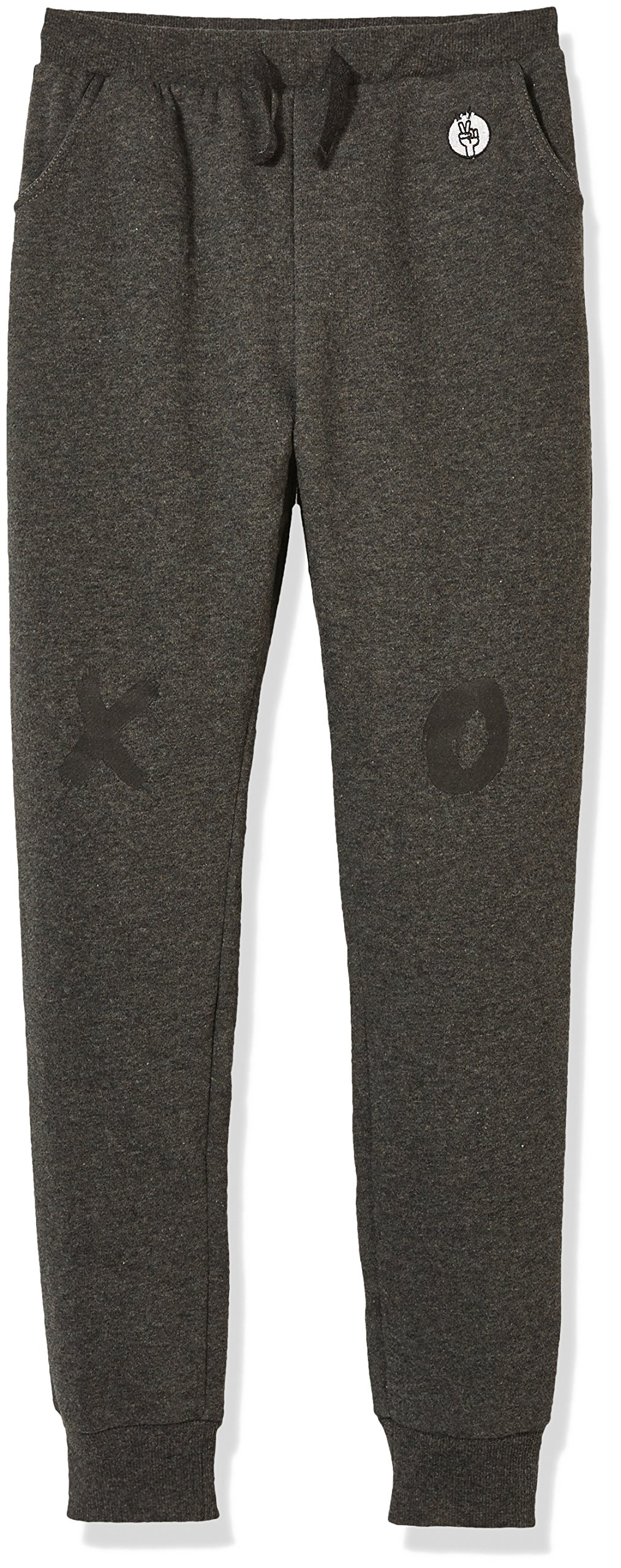 Kid Nation Kid's Fleece Jogger Pant for Boys Girls S Charcoal Gray Heather