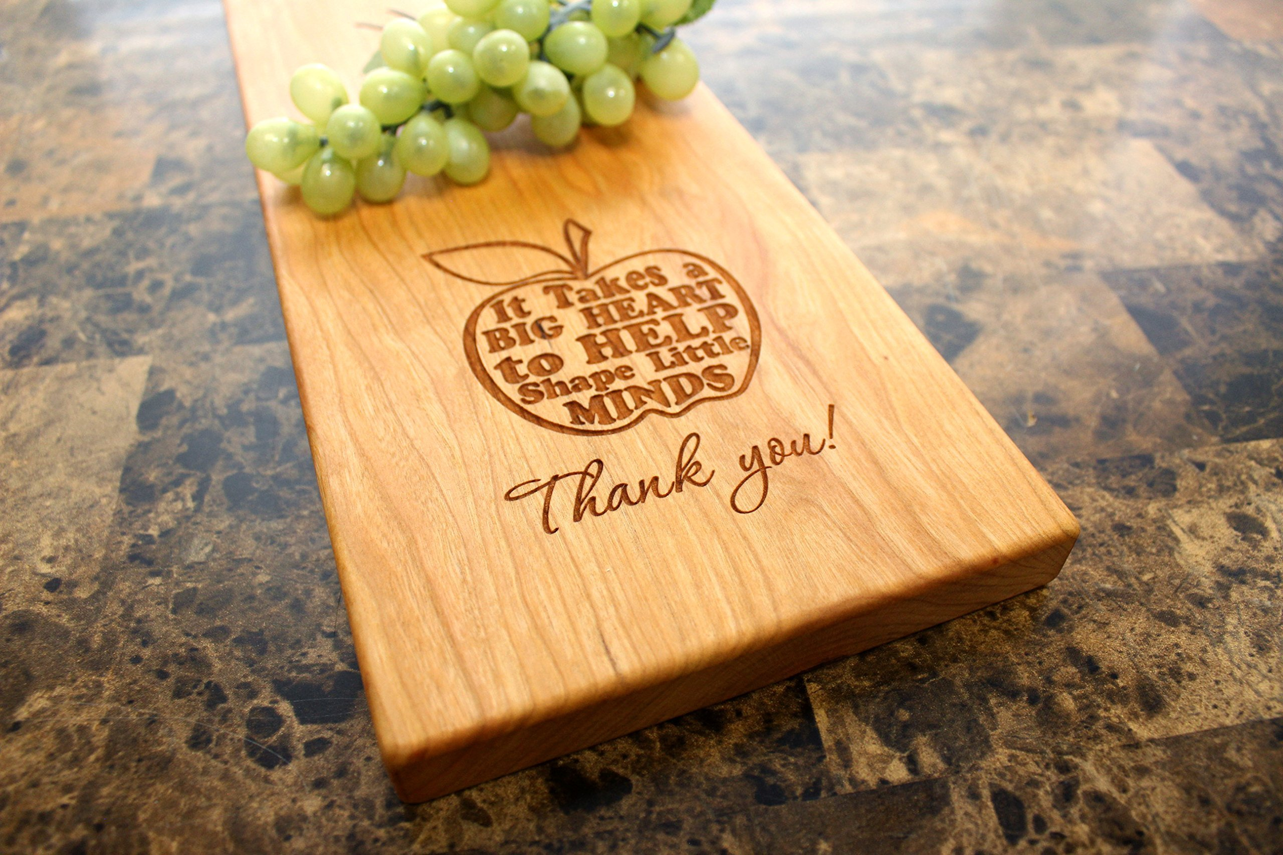 Personalized Cherry Cheese Board - Cheese Plate, Serving Platter, Gift for Teacher, Unique Gift Idea, School Gift, Thank You Present, Education, Saying, Quote. #949