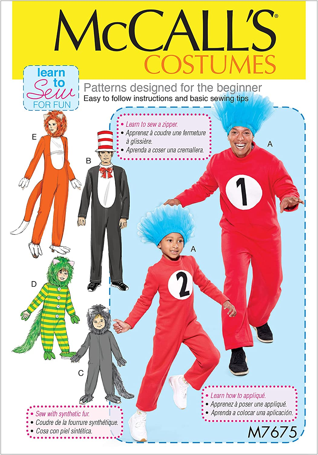 Sizes 3-8 McCalls Patterns Various Jumpsuit Halloween Costume Sewing Patterns for Kids