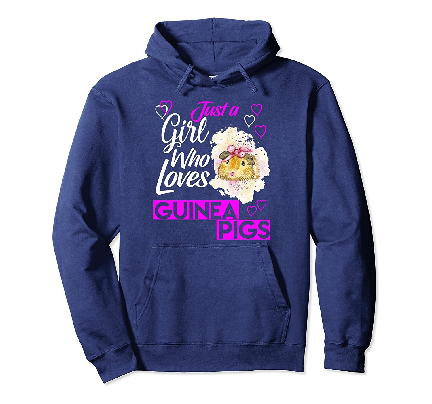 Cute Just A Girl Who Loves Guinea Pigs Pullover Hoodie-AZP