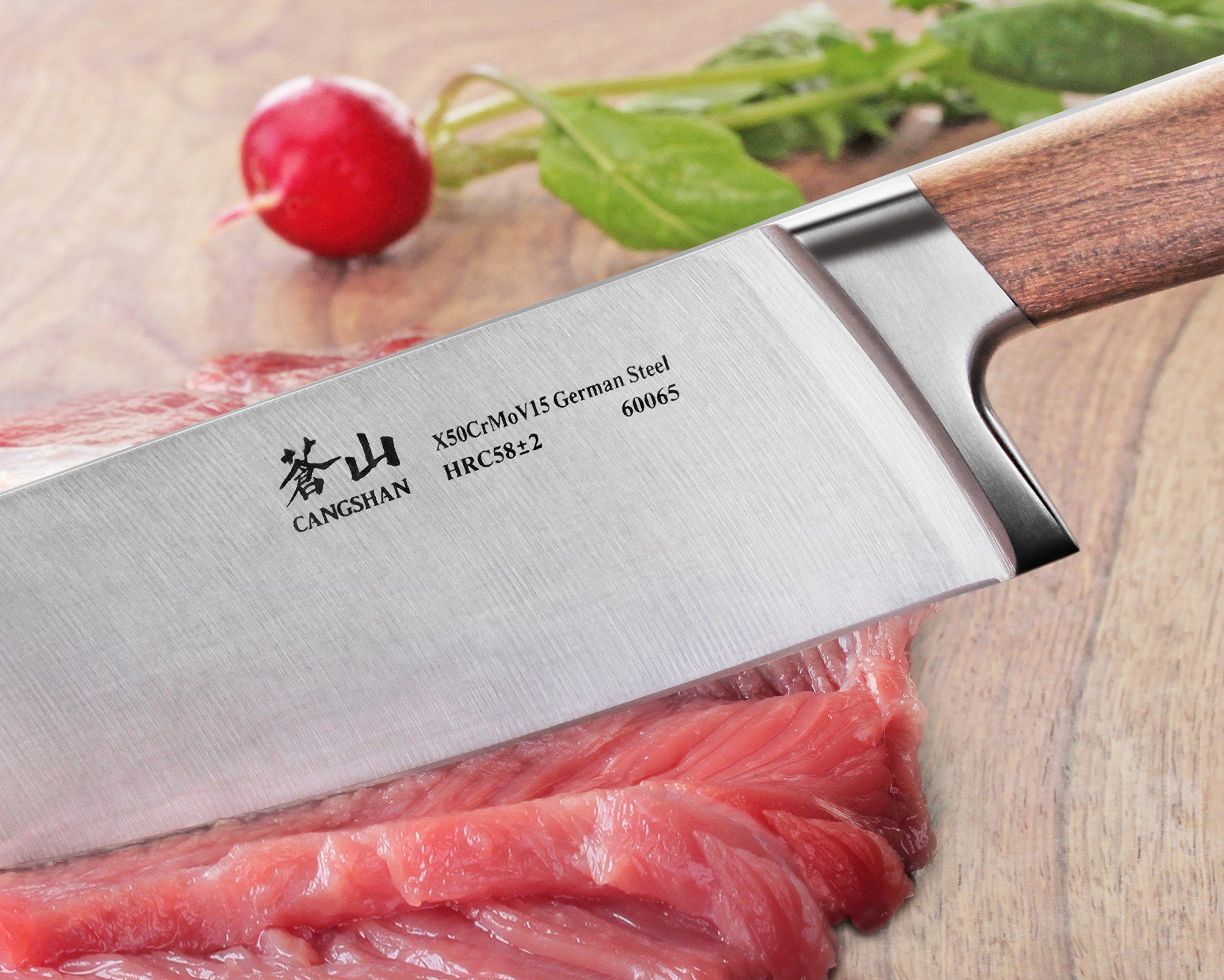Cangshan H1 Series 60065 German Steel Forged Chef Knife, 8'', Silver by Cangshan (Image #5)