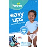 Pampers Easy Ups Training Pants Pull On Disposable Diapers for Boys Size 4 (2T-3T), 116 Count, GIANT