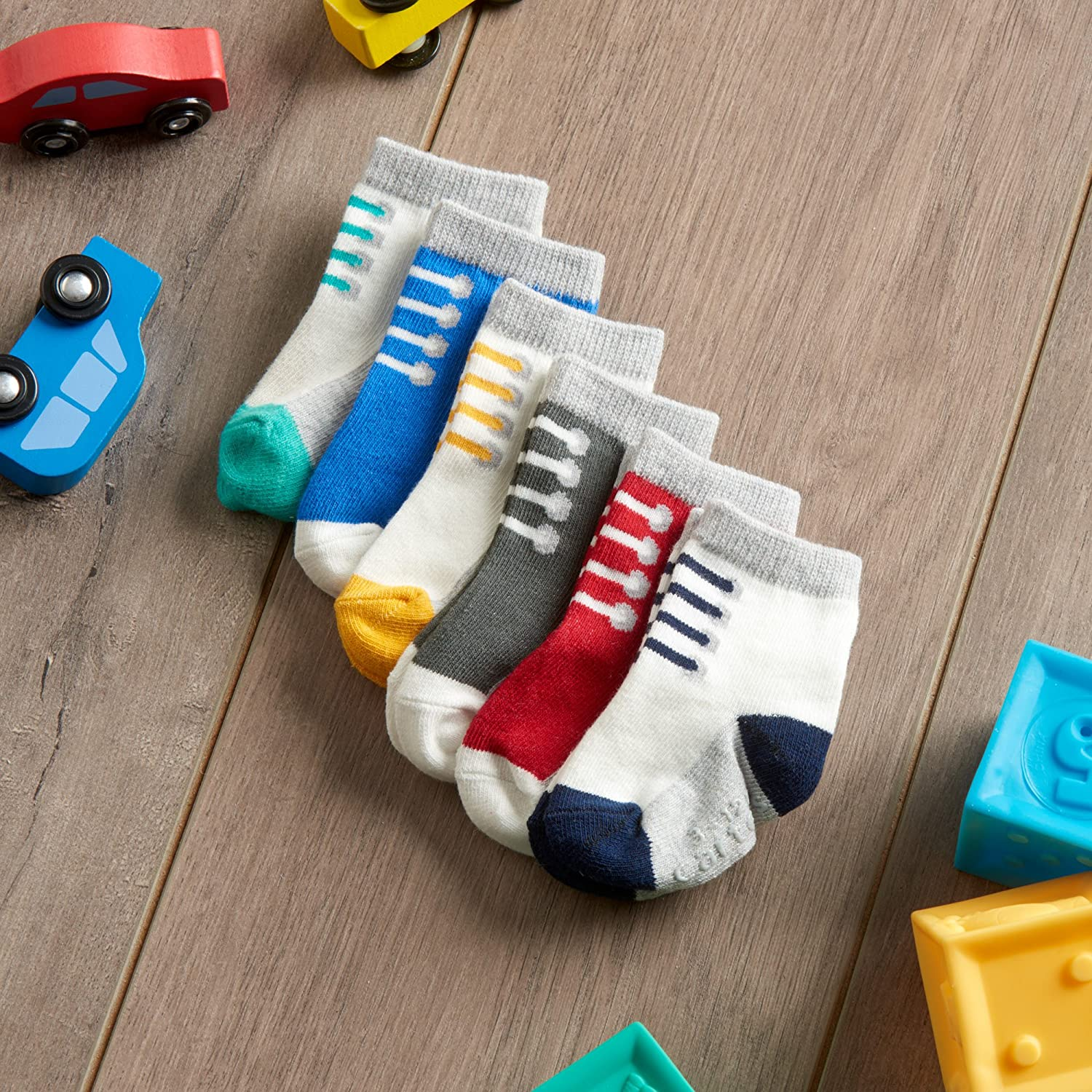 Pack of 6 Carters Baby Boys Newborn Sneaker Socks