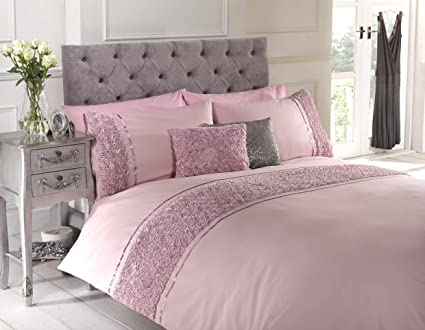 876a39a2a175 Limoge Duvet Cover Bed Set Single Double King and Super King Size, 1 x Rose  Boudoir Cushion: Amazon.co.uk: Kitchen & Home