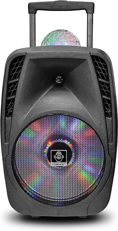 iDance Groove 216, Altavoz Portatil, Con mango telescópico y ruedas, Color Negro