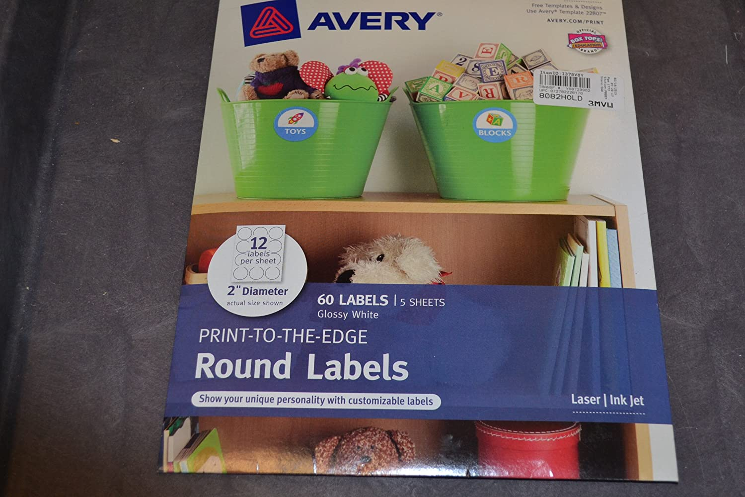 Avery Print To The Edge Round Labels Glossy White 2 Inch Diameter Pack Of 60 22817 Amazon In Office Products