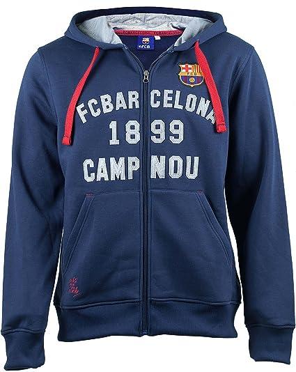 F.C. Barcelona - Sudadera con capucha del F. C. Barcelona (colección oficial del F.C.