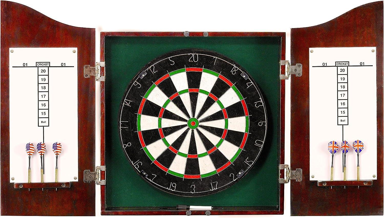 Hathway Centerpoint Wooden Dart Board with Cabinet