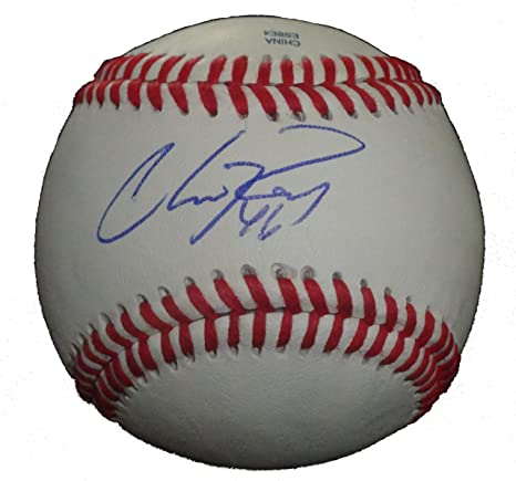 f8e63b56a7 Texas Rangers Chris Ray Autographed Hand Signed Baseball with Proof ...