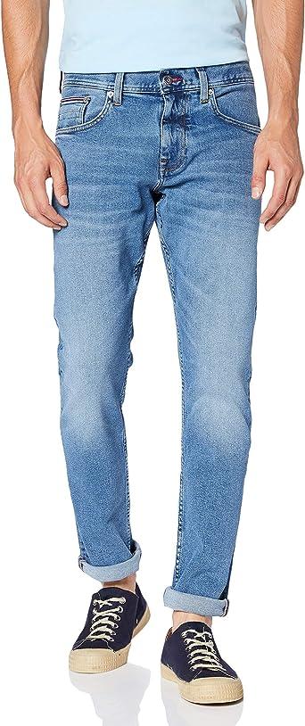 Tommy Hilfiger Hombre Slim Bleecker Pstr Lane Blue Pantalones Denim W34 L32 Amazon Es Ropa Y Accesorios