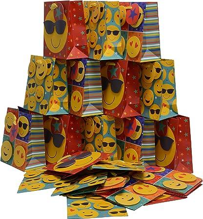 Kraft King Emoji Birthday Gift Bags In Bulk