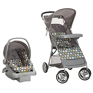 Amazon.com: Cosco Lift & Stroll Travel System, Ikat Dots: Baby
