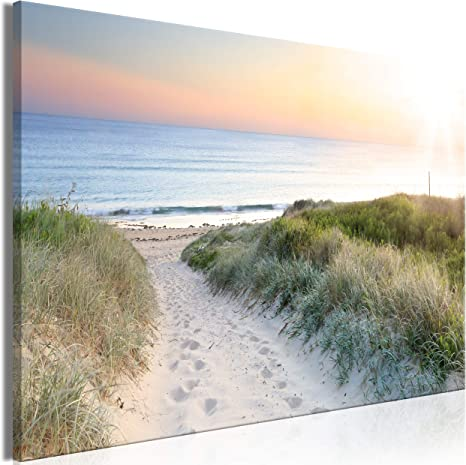 Meer Strand Leinwand Deko Bilder XXL WANDBILDER 3 Motive KUNSTDRUCK Natur Bild