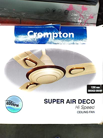Buy Crompton Super Air Deco 1200mm Ceiling Fan (Briken Ivory ...